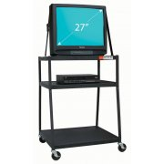 Wide-Body AV Cart for 27 inch monitor