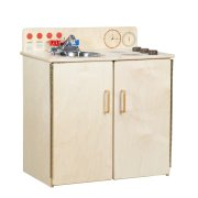 WD Wooden Play Kitchen Sink and Stove with Tip-Not Doors