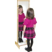 Child Safe Acrylic Mirror with Wood Frame
