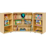 Mobile Folding Cubby Storage - 3-Section