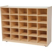 Mobile Cubby Storage Unit - 25 Cubbies