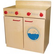 WD Wooden Play Washer and Dryer Set with Tip-Not Doors