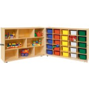 8-Shelf Unit With 25 Assorted Trays