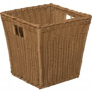 Medium Plastic Wicker Preschool Storage Basket