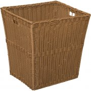 Large Plastic Wicker Preschool Storage Baskets - Set of 4