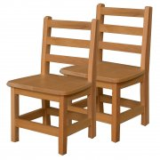 Ladder Back Hardwood Chair Twin Pack (12