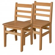 Ladder Back Hardwood Chair Twin Pack (16