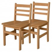 Ladder Back Hardwood Chair Twin Pack (18