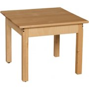 Square Hardwood Table