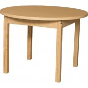 Round Laminate Classroom Table with Hardwood Legs (36