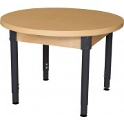 48in Round Adj. Height Laminate Classroom Table - Steel Legs