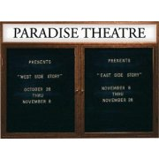 Illuminated Letter Board 2 Door w/Header Enclosed (4'x3')