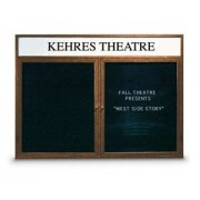 Enclosed Letter Board - 2 Door and Header (4'x3')