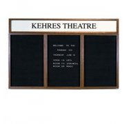 Illuminated Letter Board 3 Door w/Header Enclosed (6'x3')