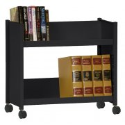 Sloped-Shelf Book Cart, 2 shelves