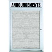 Weatherproof  Enclosed Vinyl Board 1 Door w/Header (2'x3')