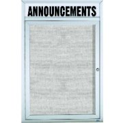Weatherproof Enclosed Illuminated Vinyl Board w/Header (2'x3')