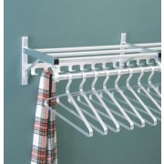 Wall Mounted Coat Rack with Hat Shelf and Hooks (2')