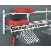 Wall Mounted Coat Rack with 2 Hat Shelves and Hooks (6')