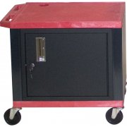 Colored Shelf Tuffy Cart with Cabinet (24.5