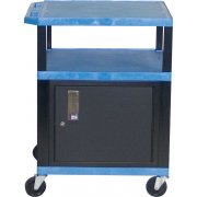 Colored Shelf Tuffy Cart with Cabinet (34