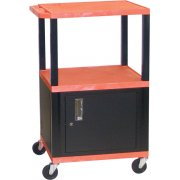Colored Shelf Tuffy Cart with Cabinet (42