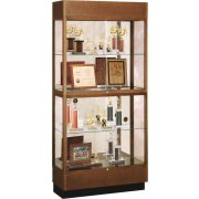Hard Wood 2 Tier Trophy Cabinet - Mirror (36