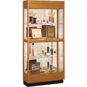 Heritage Oak 2 Tier Trophy Cabinet - Mirror (36