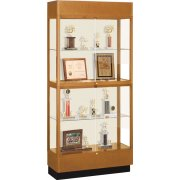 Heritage Oak 2 Tier Trophy Cabinet (36