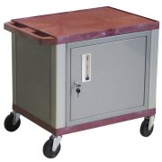 Colored Shelf Tuffy Cart with Cabinet and Electric (24.5