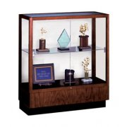 Oak Trophy Cabinet - White  Laminate Back (36