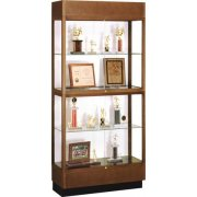 Hardwood 2-Tier Trophy Cabinet White Laminate (36