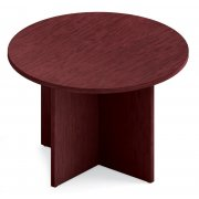 Round Top Table with Self Edge & X-Base (42