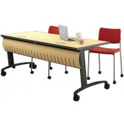 Z3 Table with Locking Curved Front Modesty Panel (72