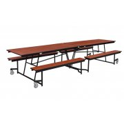 Fixed-Bench Cafeteria Table Particleboard Core Vinyl Edg (12')
