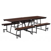 Fixed-Bench Cafeteria Table MDF Core Protect Edge (12')
