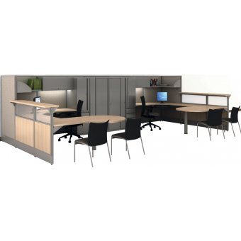 Parallel Modular Office Cubicles by Maxon