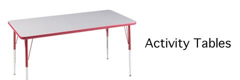 Activity tables come in all shapes, sizes and colors to fit your classroom.