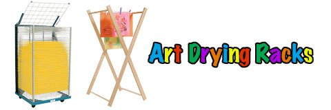 Protect your masterpieces, clothing and furniture by getting art drying racks for your studio.