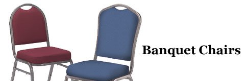 Create an elegant atmosphere in your gym, social hall or community center with graceful banquet chairs.