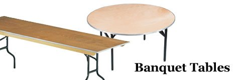 Enjoy flexibility at any event with this great selection of banquet tables.