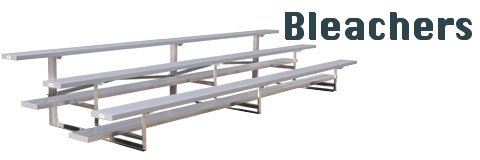 Aluminum bleachers give your fans a great view of the field or court.