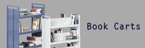 Shelving books and getting the library organized is much easier when you have a book cart.