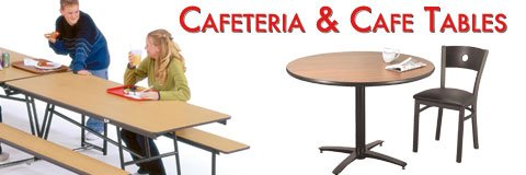 Cafeteria tables come in all shapes and sizes with a variety of seating options.