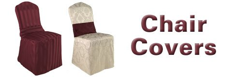 Give your old seats a new life with elegant chair covers in a selection of colors and fabrics.