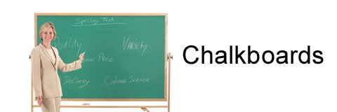 With the right chalkboard you can present information in a clear and organized way.