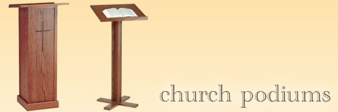 What kind of podium is appropriate for a church?