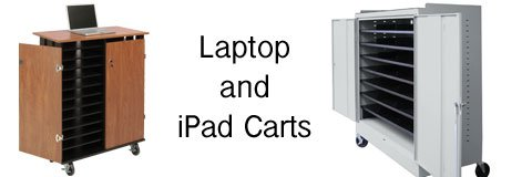 Your devices will always be charged up and ready to go when you have a laptop or ipad cart.