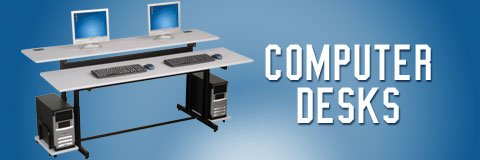 A functional computer desk will make your work day comfortable and productive.