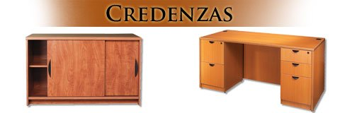 Make use of that extra space and enhance your office with a coordinated credenza.